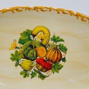 Farmhouse Serving Platter Vegetable Italy Cottage